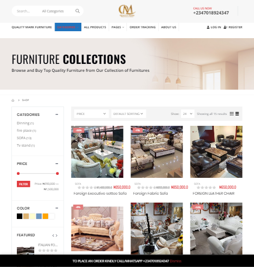 Shop _ Quality Mark Furiture _ Furniture in Port Harcourt